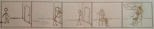 El muchacho y la puerta