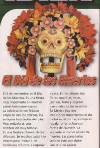 DIA DE LOS MUERTOS informacion Spanish I