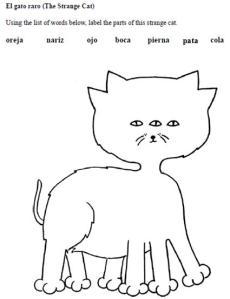 El cuerpo del gato