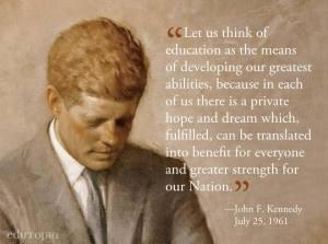 JFK ON EDUCATION