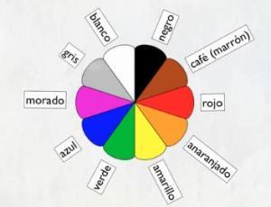 los colores en una rueda