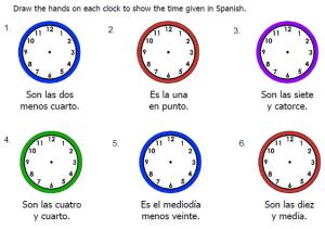 Draw hands on clock for time