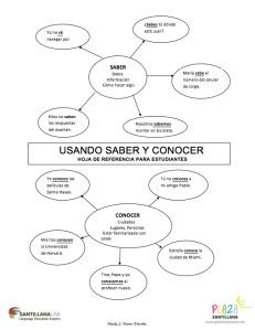 USANDO SABER Y CONOCER