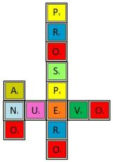 PROSPERO ANO NUEVO color w Scrabble Tiles
