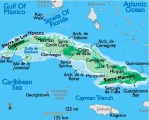 Cuba mapa