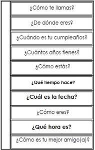 OPI preguntas