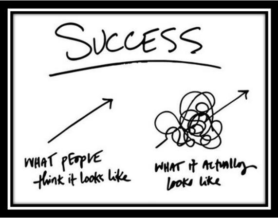 Success some think the road is straight 2