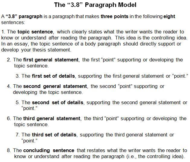 3 8 Paragragh Model