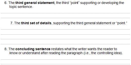 3 8 paragraph Outline form 3