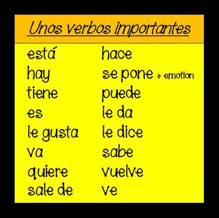 16 verbos importantes